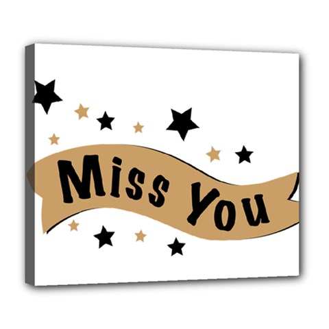 Lettering Miss You Banner Deluxe Canvas 24  X 20