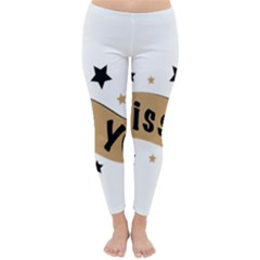 Lettering Miss You Banner Classic Winter Leggings