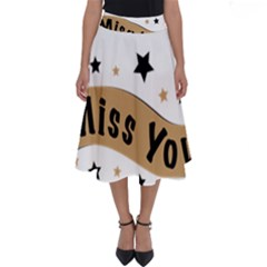 Lettering Miss You Banner Perfect Length Midi Skirt