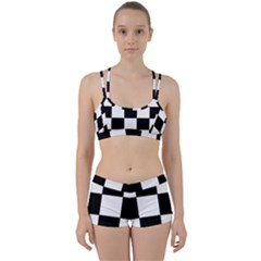 Grid Domino Bank And Black Women s Sports Set
