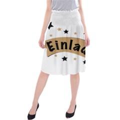 Einladung Lettering Invitation Banner Midi Beach Skirt