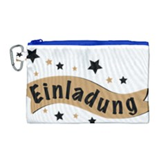 Einladung Lettering Invitation Banner Canvas Cosmetic Bag (large) by BangZart