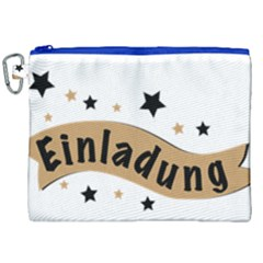 Einladung Lettering Invitation Banner Canvas Cosmetic Bag (xxl) by BangZart