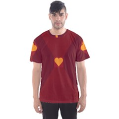 Heart Red Yellow Love Card Design Men s Sports Mesh Tee