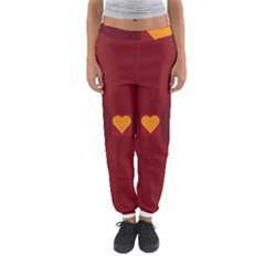 Heart Red Yellow Love Card Design Women s Jogger Sweatpants by BangZart