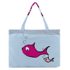 Fish Swarm Meeresbewohner Creature Zipper Medium Tote Bag
