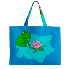 Frog Flower Lilypad Lily Pad Water Mini Tote Bag
