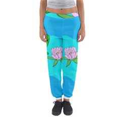 Frog Flower Lilypad Lily Pad Water Women s Jogger Sweatpants