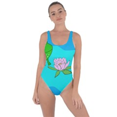 Frog Flower Lilypad Lily Pad Water Bring Sexy Back Swimsuit