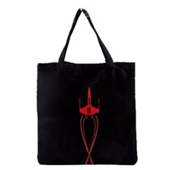 Ship Space Spaceship Grocery Tote Bag