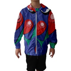 Clipart Portrait Illustration Hooded Wind Breaker (kids)