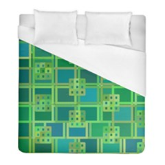 Green Abstract Geometric Duvet Cover (full/ Double Size)