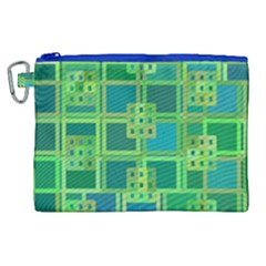 Green Abstract Geometric Canvas Cosmetic Bag (xl) by BangZart