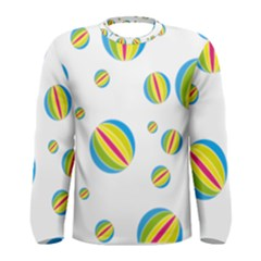 Balloon Ball District Colorful Men s Long Sleeve Tee