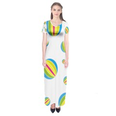 Balloon Ball District Colorful Short Sleeve Maxi Dress