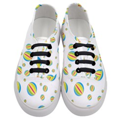 Balloon Ball District Colorful Women s Classic Low Top Sneakers