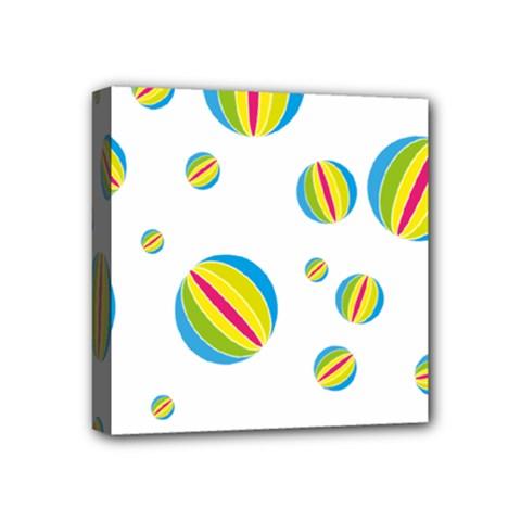 Balloon Ball District Colorful Mini Canvas 4  X 4  by BangZart