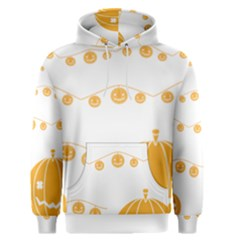 Pumpkin Halloween Deco Garland Men s Pullover Hoodie