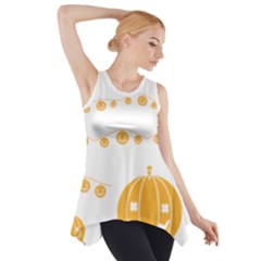 Pumpkin Halloween Deco Garland Side Drop Tank Tunic