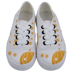 Pumpkin Halloween Deco Garland Kids  Classic Low Top Sneakers