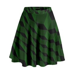 Pattern Dark Texture Background High Waist Skirt