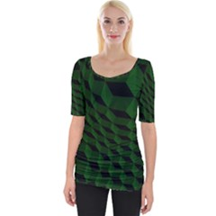 Pattern Dark Texture Background Wide Neckline Tee