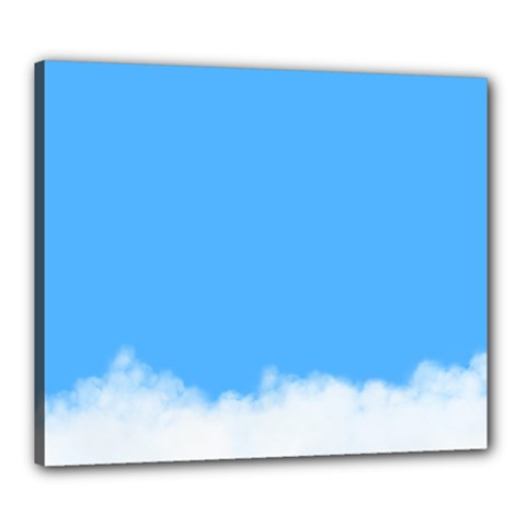 Sky Blue Blue Sky Clouds Day Canvas 24  X 20  by BangZart