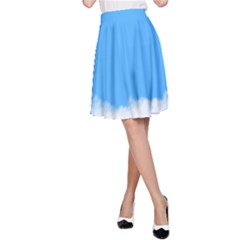 Sky Blue Blue Sky Clouds Day A Line Skirt