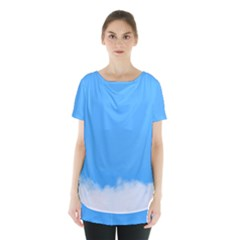 Sky Blue Blue Sky Clouds Day Skirt Hem Sports Top