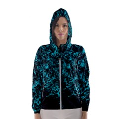 Blue Splash Hooded Wind Breaker (women) by berwies