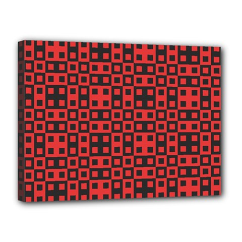 Abstract Background Red Black Canvas 16  X 12