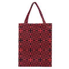 Abstract Background Red Black Classic Tote Bag