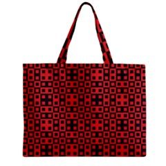 Abstract Background Red Black Zipper Mini Tote Bag by BangZart