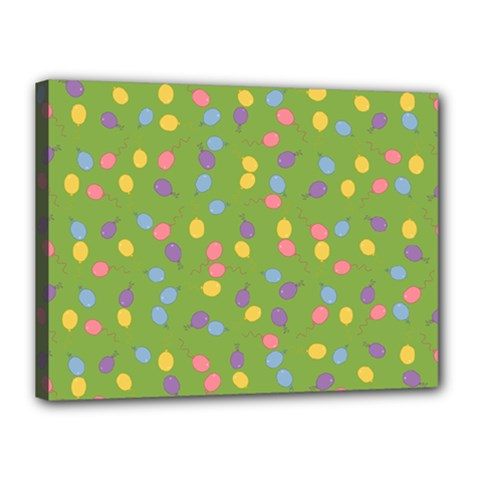 Balloon Grass Party Green Purple Canvas 16  X 12  by BangZart
