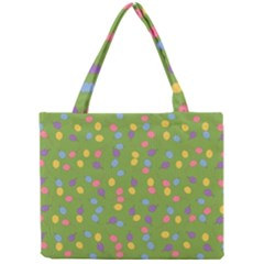 Balloon Grass Party Green Purple Mini Tote Bag by BangZart
