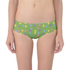 Balloon Grass Party Green Purple Classic Bikini Bottoms