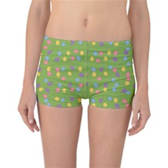 Balloon Grass Party Green Purple Reversible Boyleg Bikini Bottoms