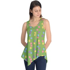 Balloon Grass Party Green Purple Sleeveless Tunic