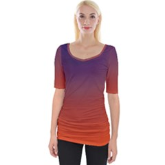 Course Colorful Pattern Abstract Wide Neckline Tee