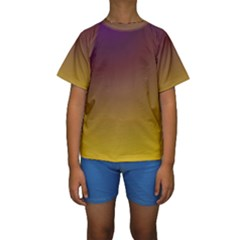 Course Colorful Pattern Abstract Kids  Short Sleeve Swimwear
