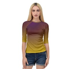 Course Colorful Pattern Abstract Quarter Sleeve Raglan Tee