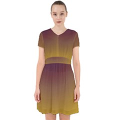 Course Colorful Pattern Abstract Adorable In Chiffon Dress
