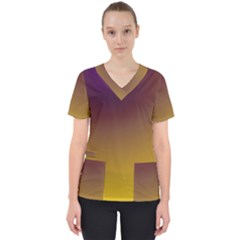 Course Colorful Pattern Abstract Scrub Top