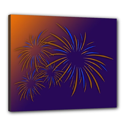 Sylvester New Year S Day Year Party Canvas 24  X 20  by BangZart