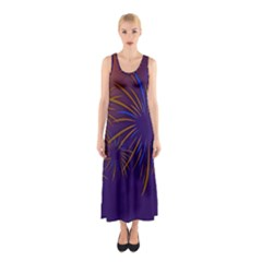 Sylvester New Year S Day Year Party Sleeveless Maxi Dress
