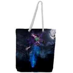 Magical Fantasy Wild Darkness Mist Full Print Rope Handle Tote (large)