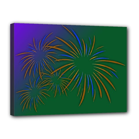 Sylvester New Year S Day Year Party Canvas 16  X 12