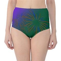 Sylvester New Year S Day Year Party High Waist Bikini Bottoms