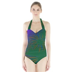 Sylvester New Year S Day Year Party Halter Swimsuit