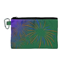 Sylvester New Year S Day Year Party Canvas Cosmetic Bag (medium)